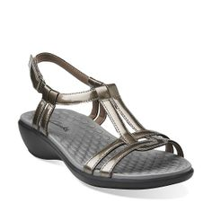Sonar Aster in Pewter Synthetic - Womens Sandals from Clarks $75