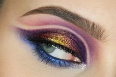 Gorgeous 'Color Depth' look by MeLady using Makeup Geek's Mango Tango, Center Stage, Flame  Thrower eyeshadow and foiled eyeshadows along with Liquid Gold pigment.