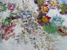 October Bouquet Floral Abstract Art Original Oil by FromGlenToGlen