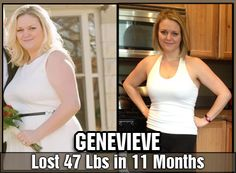 Genevieve lost 47 pounds in 11 months! #Health #Fitness #ChangingLives #NeverGiveUp #Inspiration #transformation