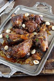 Spicy Moroccan Lamb with honey and plums - Recipes Plum Recipes, Wine Recipes, Light Recipes, Couscous, Pork Cheeks, Salty Foods, Love Eat, Middle Eastern Recipes, Italian Dishes
