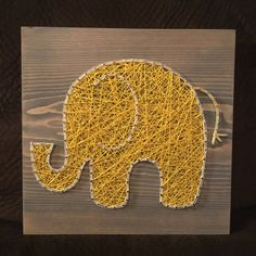 CUSTOM Elephant String Art Nursery Art nail art handmade