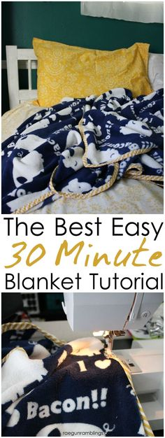 Great easy and fast DIY blanket tutorial. Perfect project for beginners or easy handmade gifts.