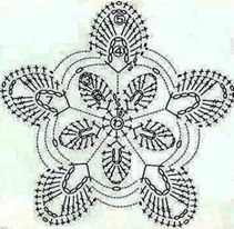 horgolt virág 5 ágú