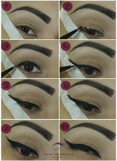 Even if using the tape as the guideline is a perfect idea ,it can  cause wrinkles under your eyes at an early age so using something else as a guideline like a fork