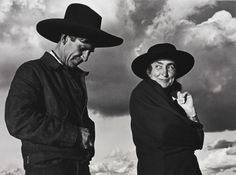 'GEORGIA O'KEEFFE AND ORVILLE COX, CANYON DE CHELLY NATIONAL MONUMENT, ARIZONA' ~B&W Photography~