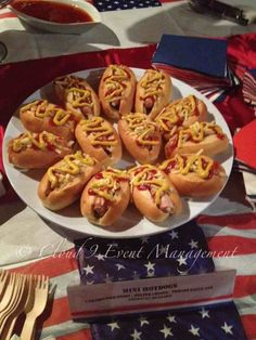 Mini American style hot dogs... catering