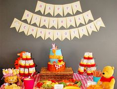 Hundred Acre Wood Party ~ Winnie the Pooh Party #winniethepooh