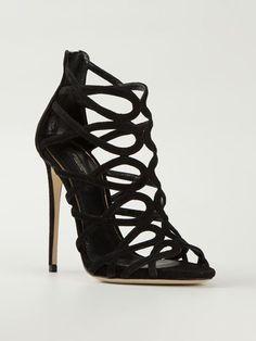Dolce & Gabbana Sandália De Couro E Camurça - Profile - Farfetch.com