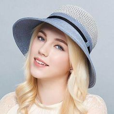 Casual color block bucket hat for women UV protection sun hats