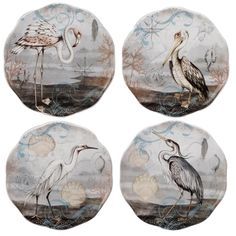 Serve your meal in style with the Certified International Coastal View Susan Canape Plates . Blending rich tones with beautifully detailed costal accents, this ceramic set is perfect for everyday use. Patio Dining, Dining Room, Hand Painted Ceramics, Ceramic Painting, Coastal Style, Plate Sets, Beautiful Patterns, Kitchen Decor, Decorative Plates