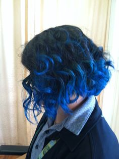 Joico sapphire blue on prelightened ends.