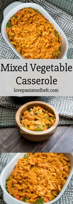 Mixed Vegetable Casserole will be your family's new favorite side dish recipe. Even those who aren't fans of vegetables love this casserole! Mixed Vegetable Casserole, Mix Vegetable Recipe, Frozen Mixed Vegetable Recipes, Vegetable Bake, Veggie Casserole, Casserole Dishes, Casserole Recipes, Thanksgiving Recipes, Christmas Recipes
