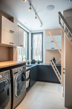 Salle de lavage 1 Mudroom Laundry Room, Laundry Room Bathroom, Laundry Room Design, Home Inside Design, Laundy Room, Modern Laundry Rooms, Dream House Interior, One Bedroom Apartment, Living Room Remodel