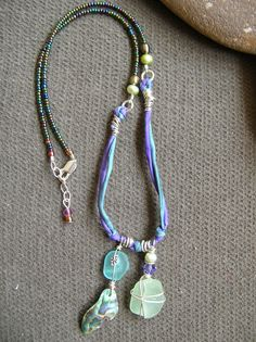 Staci Louise Smith sea glass necklace