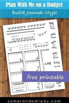 Plan With Me on a Budget. Bullet Journal Style with a Free Printable sized for Happy Planner.    black and white bujo, free printable, freeprintable, monochromatic, planner, planner printables Planners, planning, planning on a budget