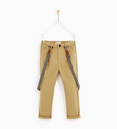 TEXTURED WEAVE CHINO TROUSERS WITH BRACES-TROUSERS-BOY | 5 - 14 years-KIDS | ZARA United States