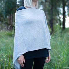 Add a voguish layer to your winter look with this luxuriously soft knit poncho.Slip it over a basic top or tee when the temperature drops. Basic Tops, Winter Looks, Bell Sleeve Top, Jackets, Women, Fashion, Down Jackets, Moda, Women's