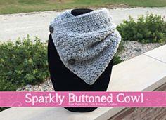Ravelry: Sparkly Buttoned Cowl pattern by Little Monkeys Crochet
