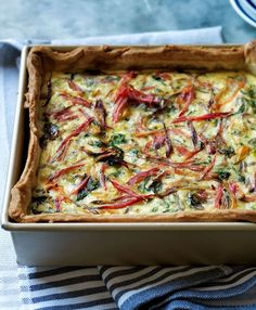 Swiss Chard and Gruyère Quiche |  This meatless quiche can be served as a main course for brunch, lunch or dinner with a tossed green salad or fresh fruit.
