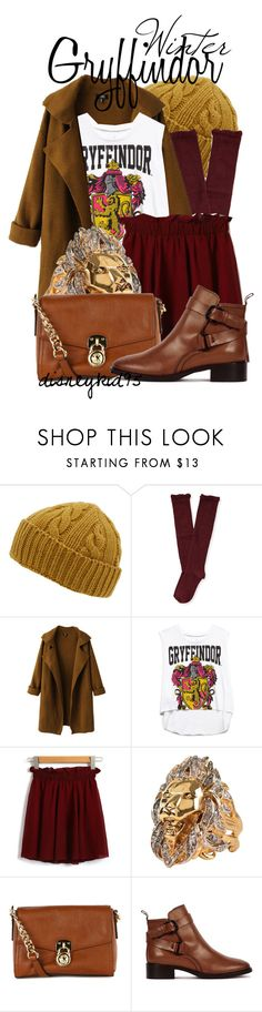 """""""Gryffindor"""" by disneykid95 ❤ liked on Polyvore featuring Oliver Spencer, Aéropostale, Chicnova Fashion, Forever 21, Roberto Cavalli, MICHAEL Michael Kors and McQ by Alexander McQueen"""