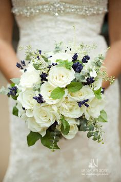 Elegant bridal bouquet with lavender accents, mint leaves, astilbe, eucalyptus, and roses Navy Mint Wedding, Blue White Weddings, Tan Wedding, Green Wedding, Wedding Colors, Pink Weddings, Wedding Ideas, Trendy Wedding, Prom Bouquet
