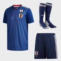 5e4ed2b75e9 2018 World Cup Kit Japan Home Replica Blue Full Suit 2018 World Cup Kit  Japan Home Replica Blue Full Suit
