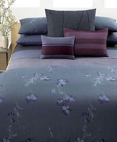 Calvin Klein Home Bedding, Smoke Flower Collection