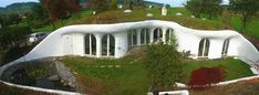 An earth house (also known as an earth berm or an earth sheltered home) is an ar. An earth house (also known as an earth berm or an earth sheltered home) is an ar. Earthship, Green Building, Building A House, Earth Sheltered Homes, Underground Homes, Underground Living, Dome House, Hill House, Unusual Homes