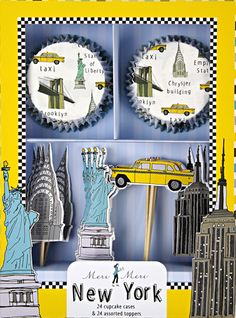 """My sister has a very strong desire to go to New York - it is her dream city in North America to visit. I imagine making cupcakes for her """"goodbye"""" party with this set."""