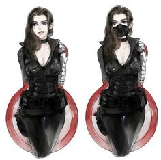Female Bucky/Winter Soldier. I think I could totally cosplay this! I won't be as amazing as Sebastian Stan though.