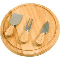 KitchenWorthy Rubberwood Board and Serving Set