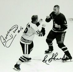I wonder how this turned out, Shack was a big boy, and a bit gruff. Bobby Hull, one of the nicest guys I have ever met. Rangers Hockey, Blackhawks Hockey, Chicago Blackhawks, Hockey Games, Baseball Players, Ice Hockey, Hockey Highlights, Bobby Hull, Hockey Room