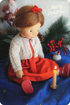 warm christmas wishes doll by E. Pongratz