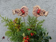 Christmas Crafts, Christmas Ornaments, Air Dry Clay, Clay Crafts, Ceramics, Holiday Decor, Fairies, Advent, Crafting