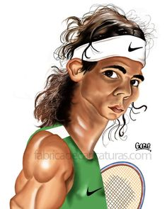 Rafael Nadal FOLLOW THIS BOARD FOR GREAT CARICATURES OR ANY OF OUR OTHER CARICATURE BOARDS. WE HAVE A FEW SEPERATED BY THINGS LIKE ACTORS, MUSICIANS, POLITICS. SPORTS AND MORE...CHECK 'EM OUT!! Anthony Contorno Sr