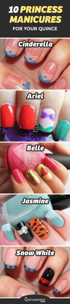 Get ready to transform your nails with the best princess themed manicures! - See more at: http://www.quinceanera.com/make-up/10-princess-manicures-for-your-quince/?utm_source=pinterest&utm_medium=social&utm_campaign=article-021916-make-up-10-princess-manicures-for-your-quince/-#sthash.WyZjD77S.dpuf