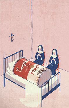 Emiliano Ponzi, Death of PostModernism: What's Next? 2011, for La Repubblica