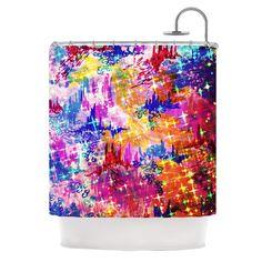 Kess InHouse Ebi Emporium Sky Risers Glam Pink Shower Curtain