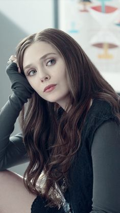 Elizabeth Olsen as Chloe Brooks - character reference in Bestselling Author Angela M. Shrum's upcoming novel, Descend Into Me.