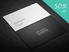 [50% off] Minimalistic Business Card by DemeDev on @creativemarket