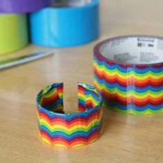 DIY Scotch duct tape bracelets for party+playdate activities - tutorial @Marie - Make and Takes