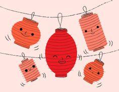 Michele Brummer Everett. Chinese lanterns.