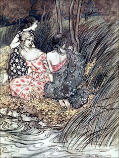 Art by Arthur Rackham (1921) from the book, COMUS by John Milton.