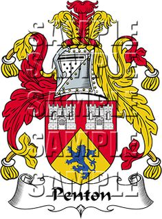 Penton Family Crest apparel, Penton Coat of Arms gifts