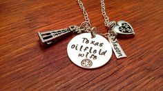 Handstamped Oil Rig oilfield necklace Texas by ByalittlebitofFaith, $38.00
