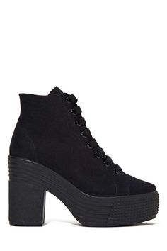 JC Play by Jeffrey Campbell Asif Platform Boot - Black | Shop Shoes at Nasty Gal