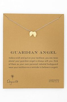 Women's Dogeared 'Reminder - Guardian Angel' Boxed Wings Pendant Necklace