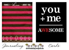 My Journaling Card Freebies/ Digital Scrapbooking Templates Project Life Album, Project Life Scrapbook, Project Life Cards, Project 365, Free Printable Cards, Free Cards, Free Printables, Mini Albums, Project Life Freebies