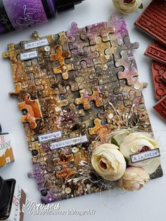 Hi Everybody!!! Today I prepared a little video for you! For the background I used old puzzles!! I...